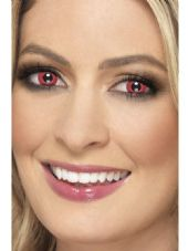 Red Electro One Day Contact Lenses